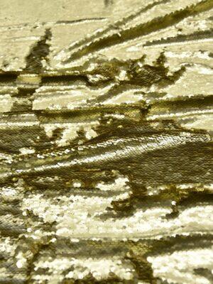 Пайетки двухсторонние золото на трикотажной основе (5801) - Фото 10