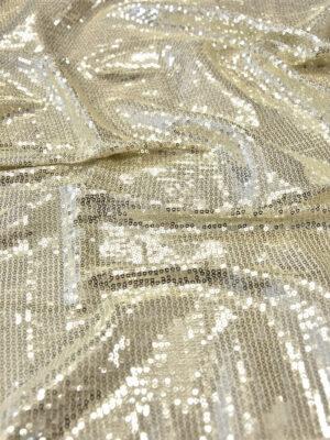 Пайетки на трикотаже платиновые мелкие (5972) - Фото 24