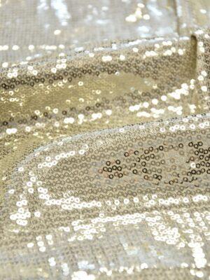 Пайетки на трикотаже платиновые мелкие (5972) - Фото 25
