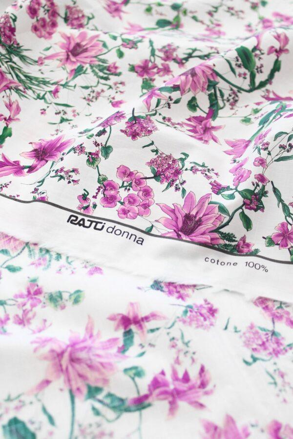Хлопок белый с розовыми цветами (6306) - Фото 8