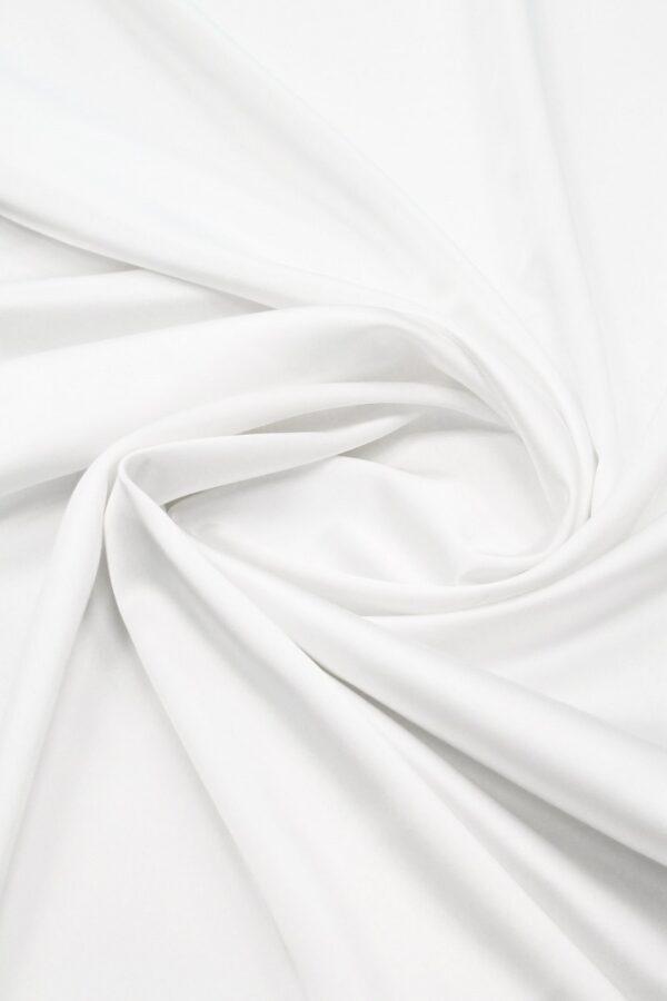 Атлас стрейч плотный белый (6350) - Фото 8