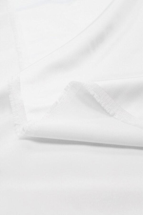 Атлас стрейч плотный белый (6350) - Фото 10