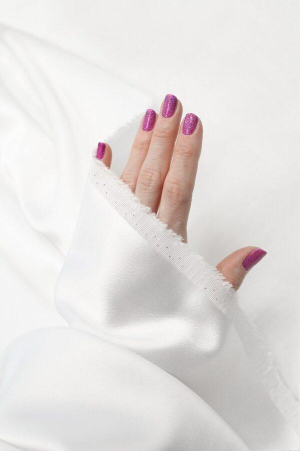 Атлас стрейч плотный белый (6350) - Фото 7