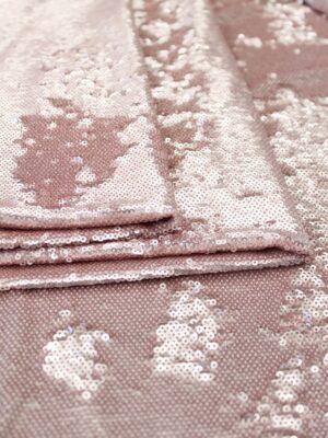 Пайетки двухсторонние розовый/пудра на сетчатой основе (6372) - Фото 21