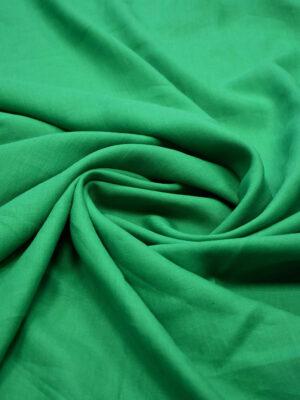 Лен плательный зеленый (6485) - Фото 13