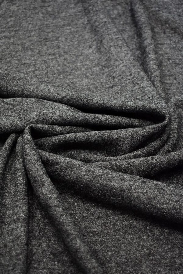 Лоден шерсть стрейч серый меланж (6679) - Фото 7
