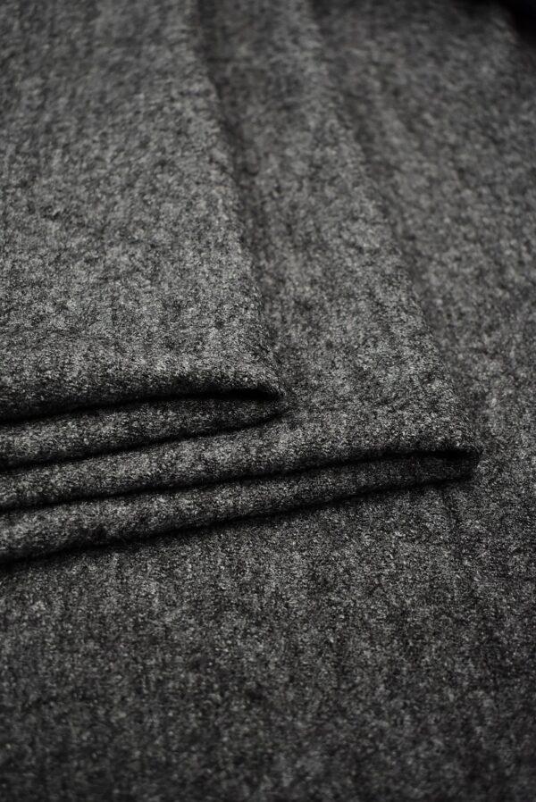 Лоден шерсть стрейч серый меланж (6679) - Фото 8