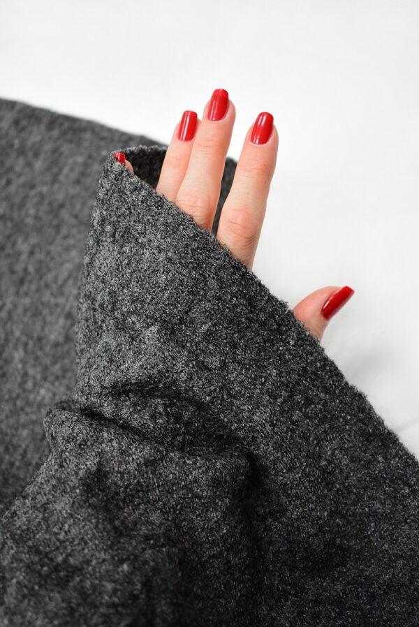 Лоден шерсть стрейч серый меланж (6679) - Фото 10