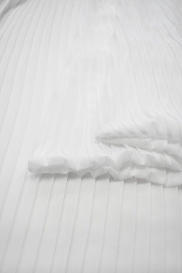 Плиссе шифоновое белое (7081) - Фото 9