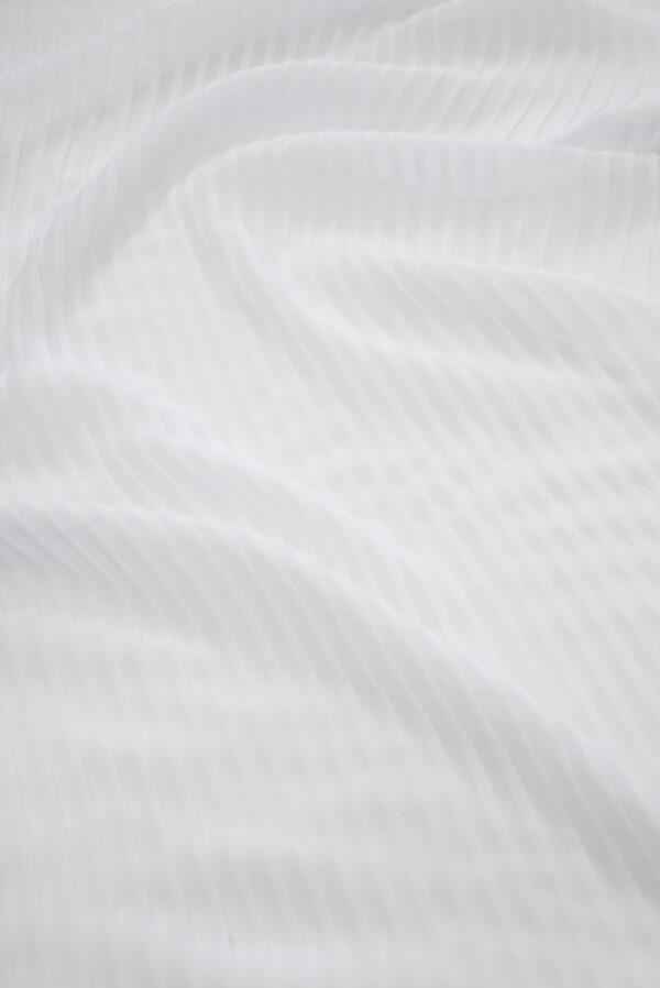 Плиссе шифоновое белое (7081) - Фото 7