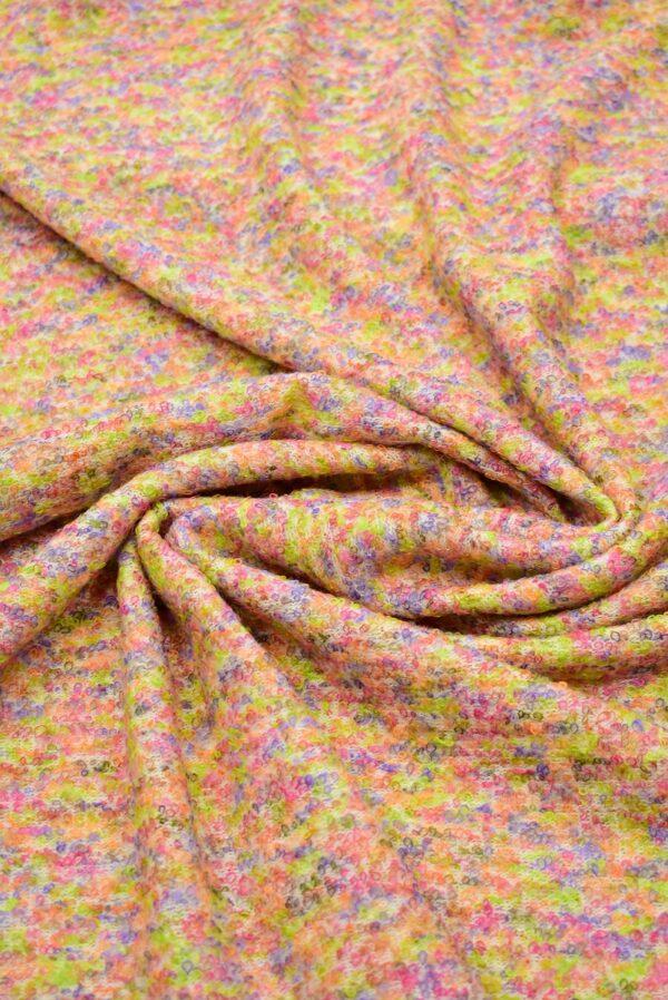Трикотаж шерсть петелька светлый мультиколор фактурный (7134) - Фото 9