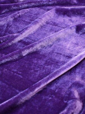 Бархат стрейч ярко-сиреневый (7196) - Фото 10