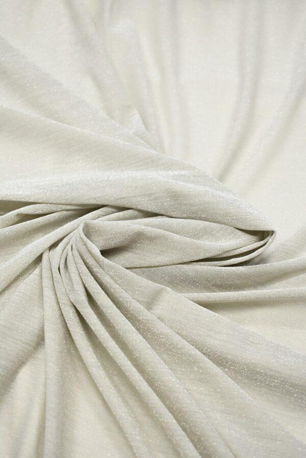 Трикотаж светлый серо-бежевый с люрексом (7272) - Фото 9