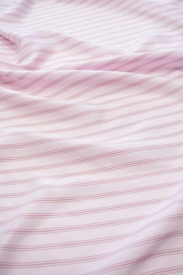 Крепдешин светло-розовый в тонкую полоску (7412) - Фото 6