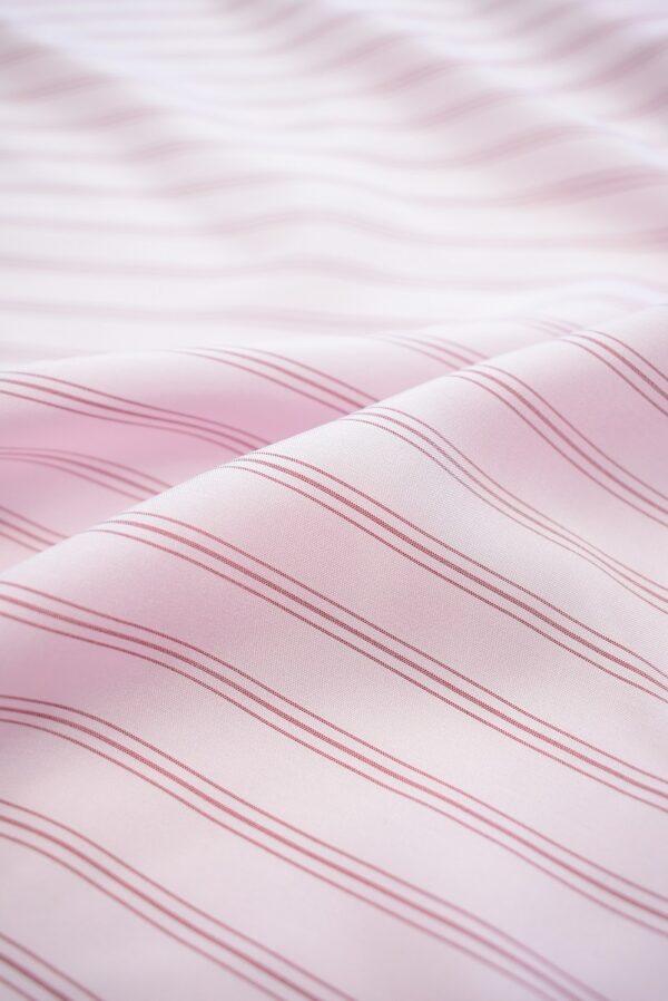 Крепдешин светло-розовый в тонкую полоску (7412) - Фото 9