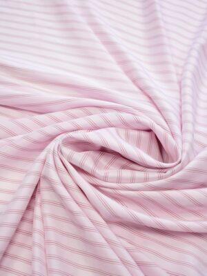 Крепдешин светло-розовый в тонкую полоску (7412) - Фото 15