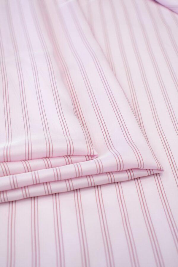Крепдешин светло-розовый в тонкую полоску (7412) - Фото 8