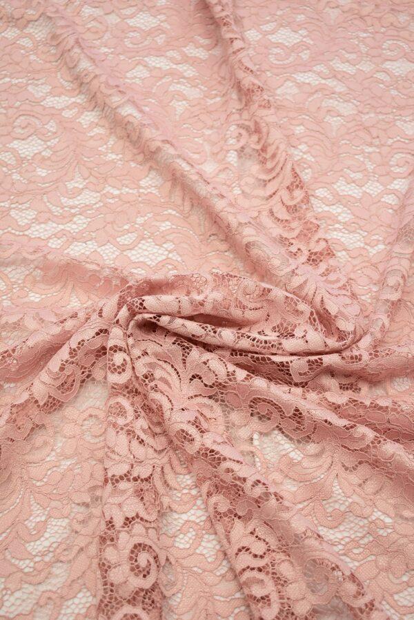 Кружево сутажное светло-розовое с завитками (7433) - Фото 9