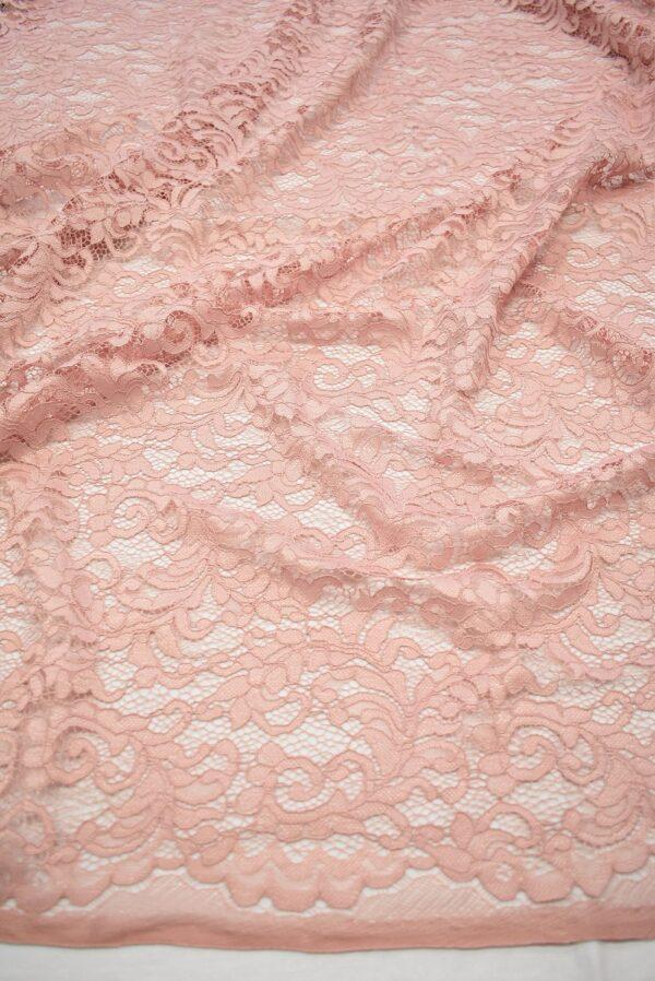 Кружево сутажное светло-розовое с завитками (7433) - Фото 6