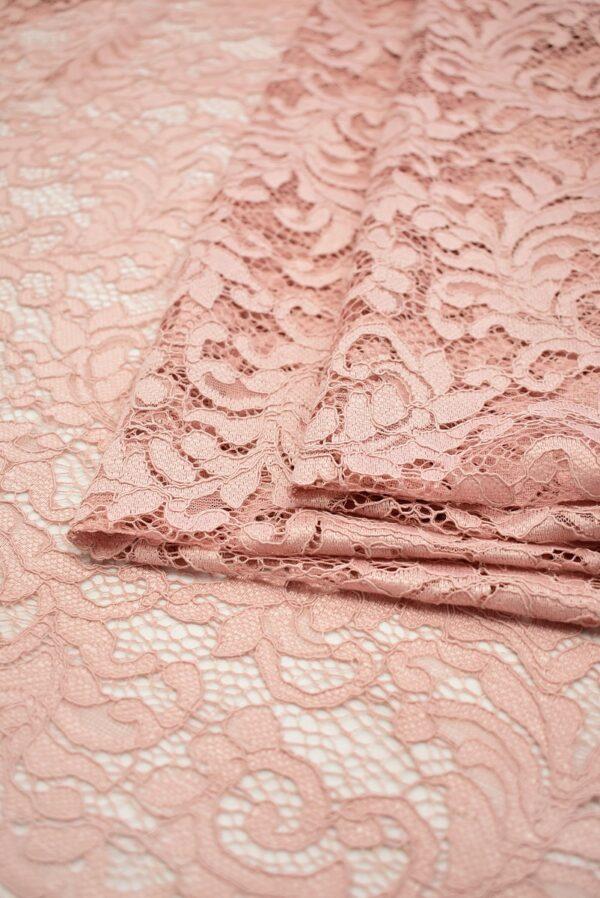 Кружево сутажное светло-розовое с завитками (7433) - Фото 7