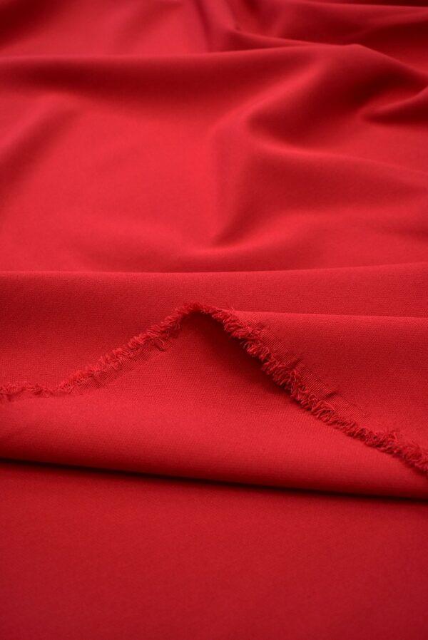 Костюмная стрейч красный оттенок (7570) - Фото 10