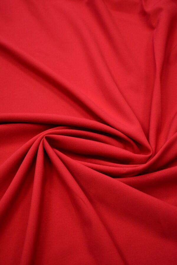 Костюмная стрейч красный оттенок (7570) - Фото 7