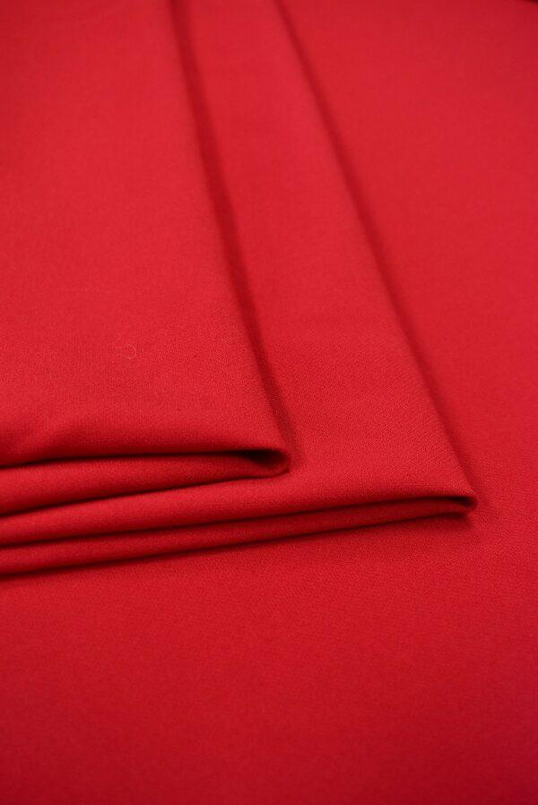 Костюмная стрейч красный оттенок (7570) - Фото 9
