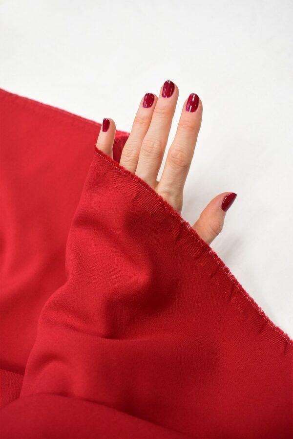Костюмная стрейч красный оттенок (7570) - Фото 11