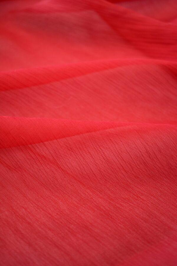 Шифон креш красный оттенок (7750) - Фото 9