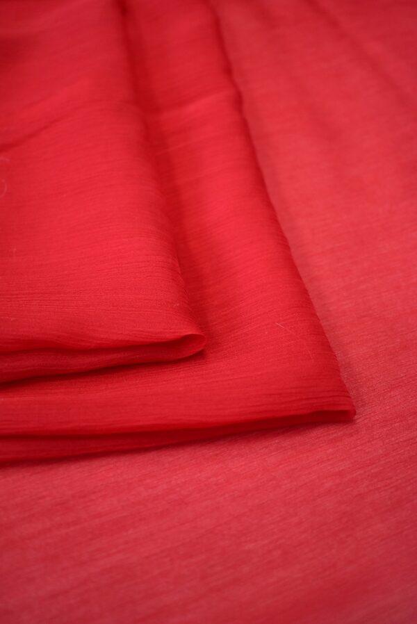 Шифон креш красный оттенок (7750) - Фото 8