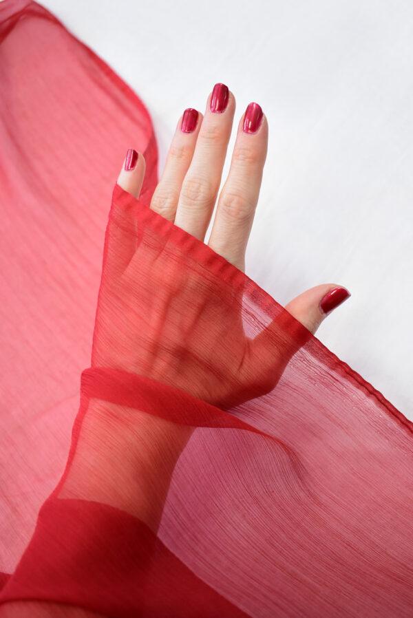 Шифон креш красный оттенок (7750) - Фото 7