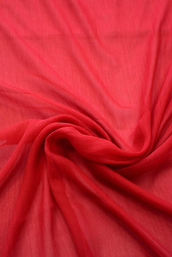 Шифон креш красный оттенок (7750) - Фото 10