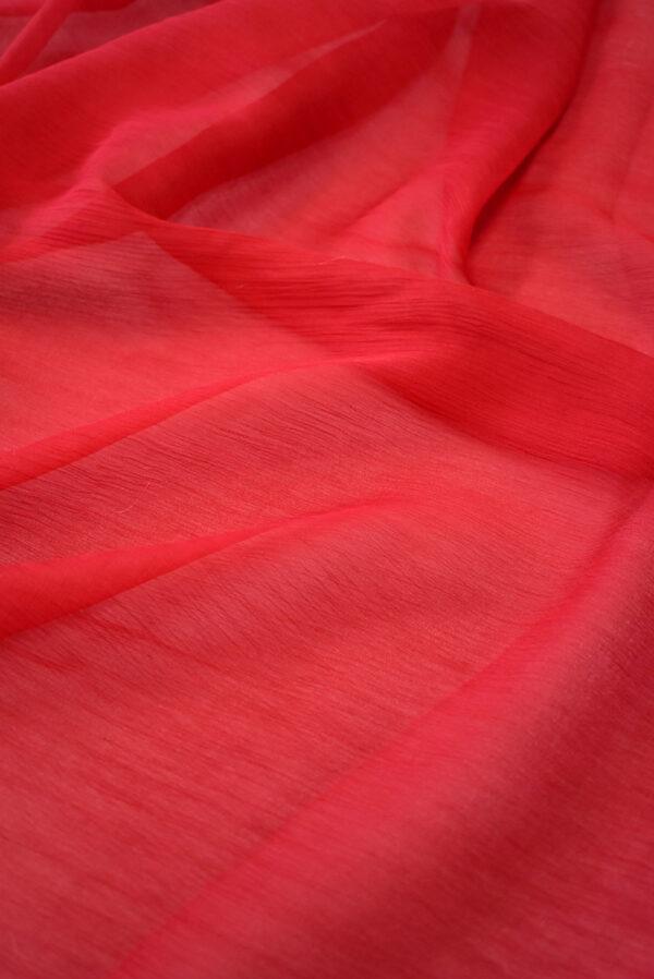 Шифон креш красный оттенок (7750) - Фото 6