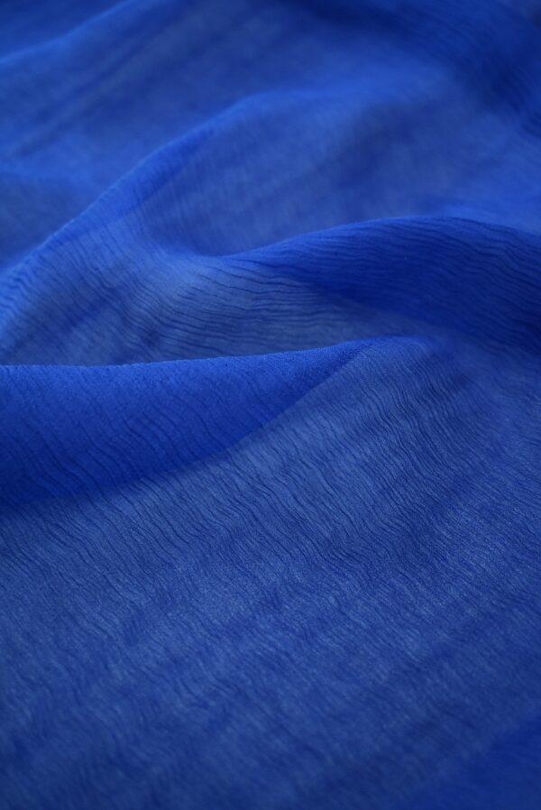 Шифон креш темно-синий (7754) - Фото 10