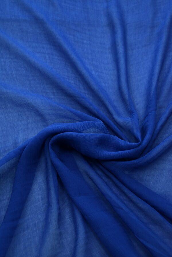 Шифон креш темно-синий (7754) - Фото 8