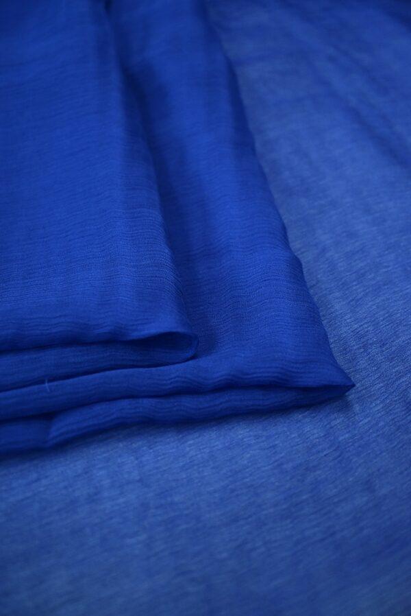 Шифон креш темно-синий (7754) - Фото 9