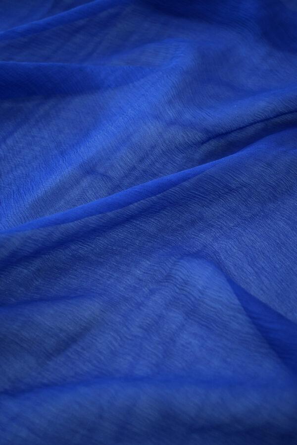 Шифон креш темно-синий (7754) - Фото 6