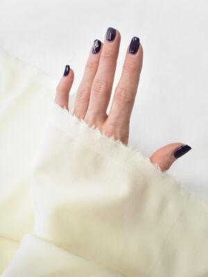 Костюмная шерсть стрейч молочного оттенка (7764) - Фото 17