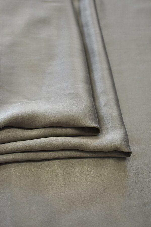 Шелк натуральный серо-бежевого цвета (7777) - Фото 8