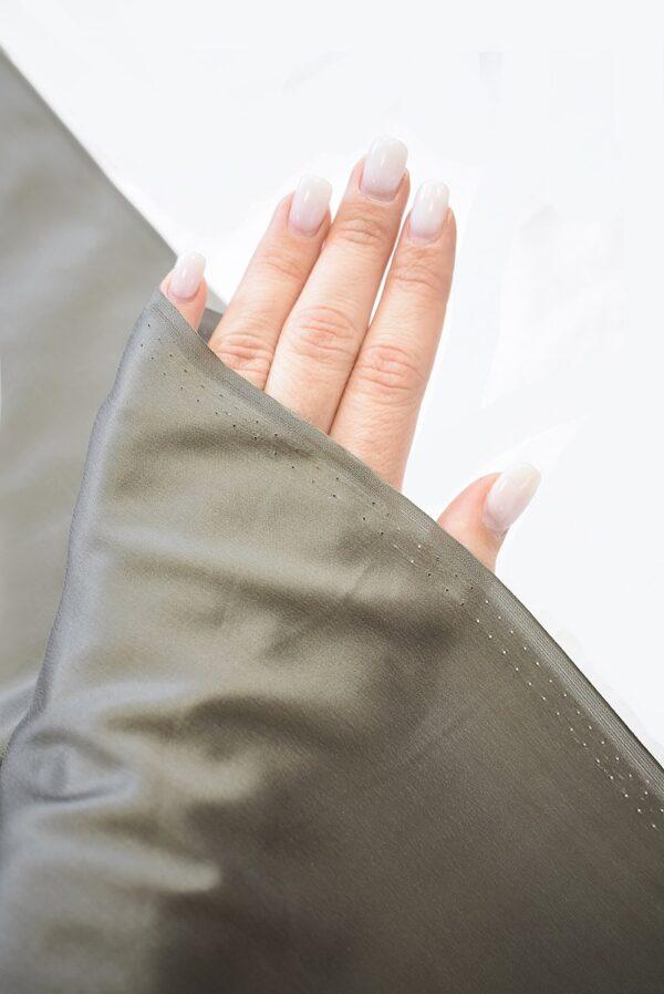 Шелк натуральный серо-бежевого цвета (7777) - Фото 10