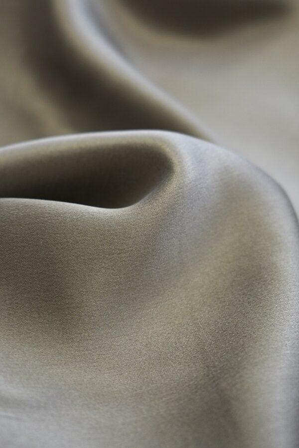 Шелк натуральный серо-бежевого цвета (7777) - Фото 9
