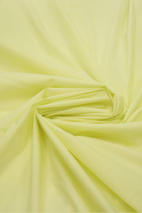Хлопок стрейч рубашечный светло-желтый (7965) - Фото 8