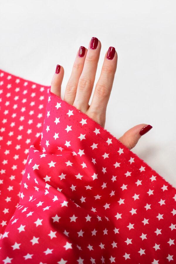 Хлопок красный с белыми звездами (8001) - Фото 11