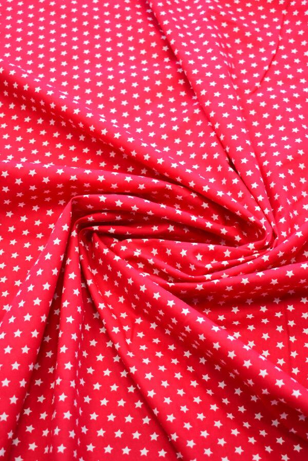 Хлопок красный с белыми звездами (8001) - Фото 8