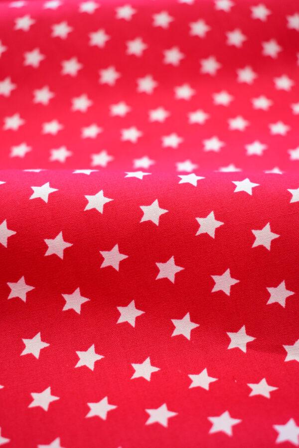 Хлопок красный с белыми звездами (8001) - Фото 10