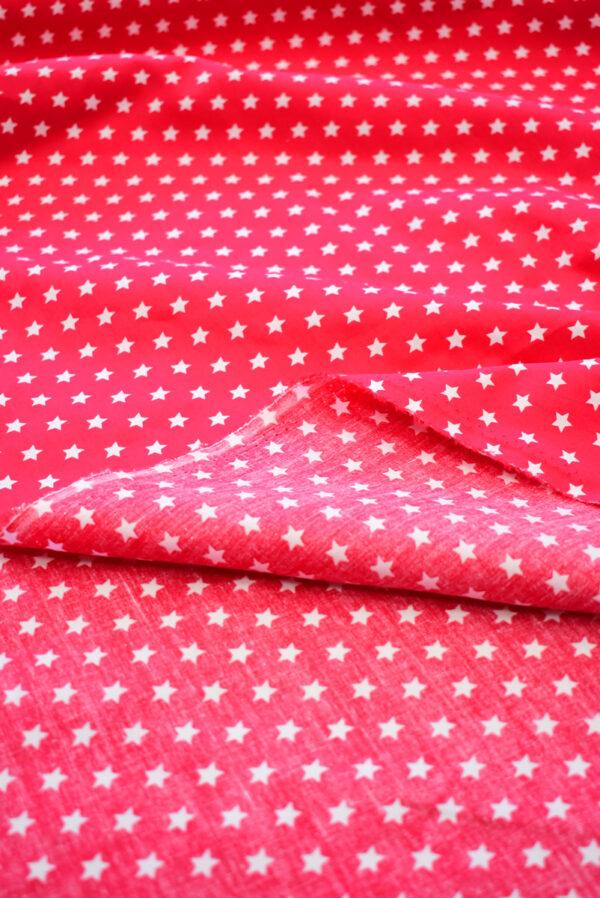 Хлопок красный с белыми звездами (8001) - Фото 9