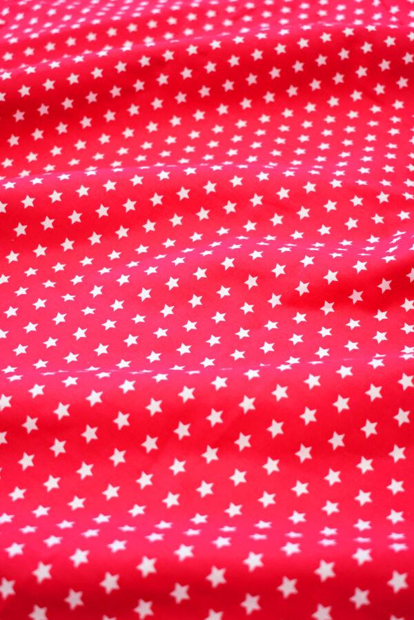 Хлопок красный с белыми звездами (8001) - Фото 6