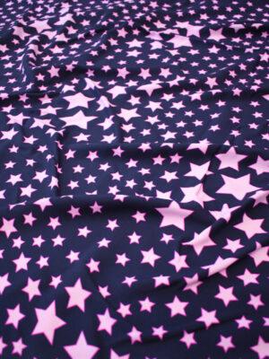 Штапель стрейч звезды на темно-синем фоне (8068) - Фото 15