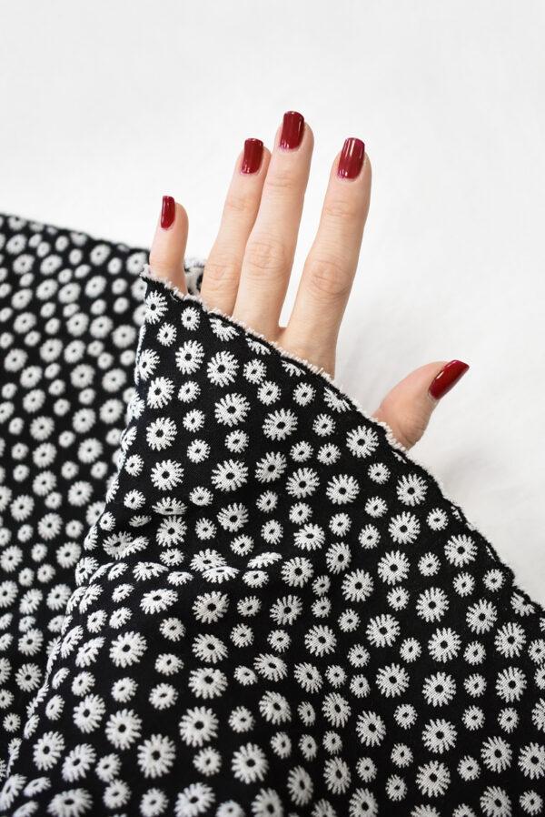 Жаккард двухсторонний с мелкими ромашками (8123) - Фото 7