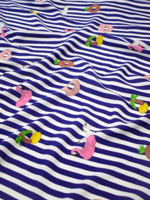 Штапель в полоску с пончиками и надувными кругами (8452) - Фото 17